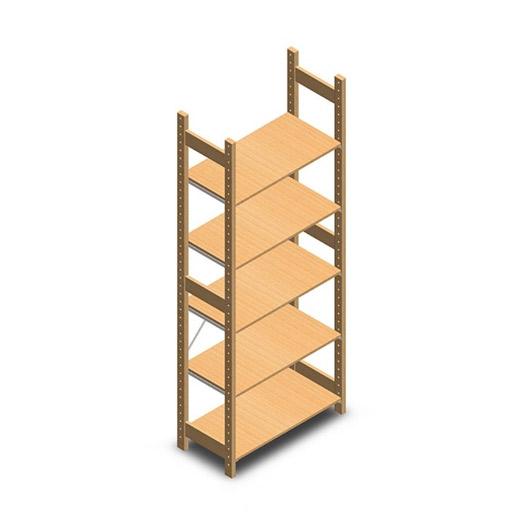 houten legbordstelling