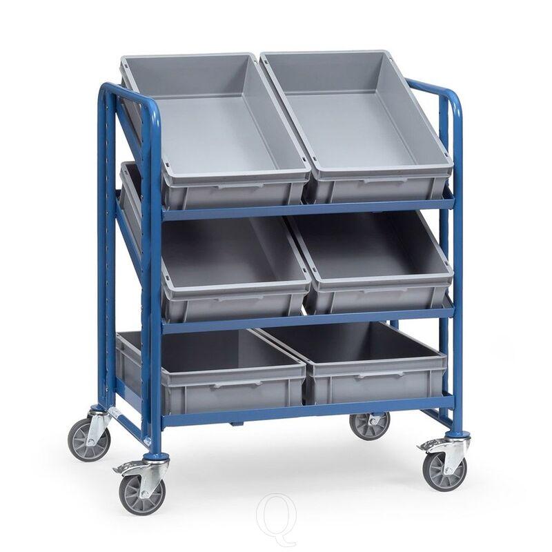 Bakkenwagen 250 kg met 3 etages 820x610 en 6 eurobakken