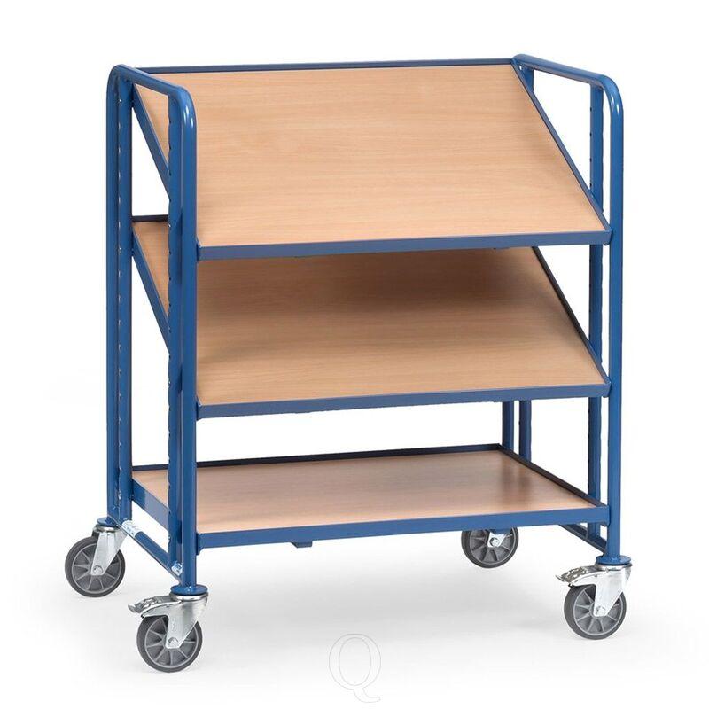 Bakkenwagen 250 kg met 3 houten etages 820x610