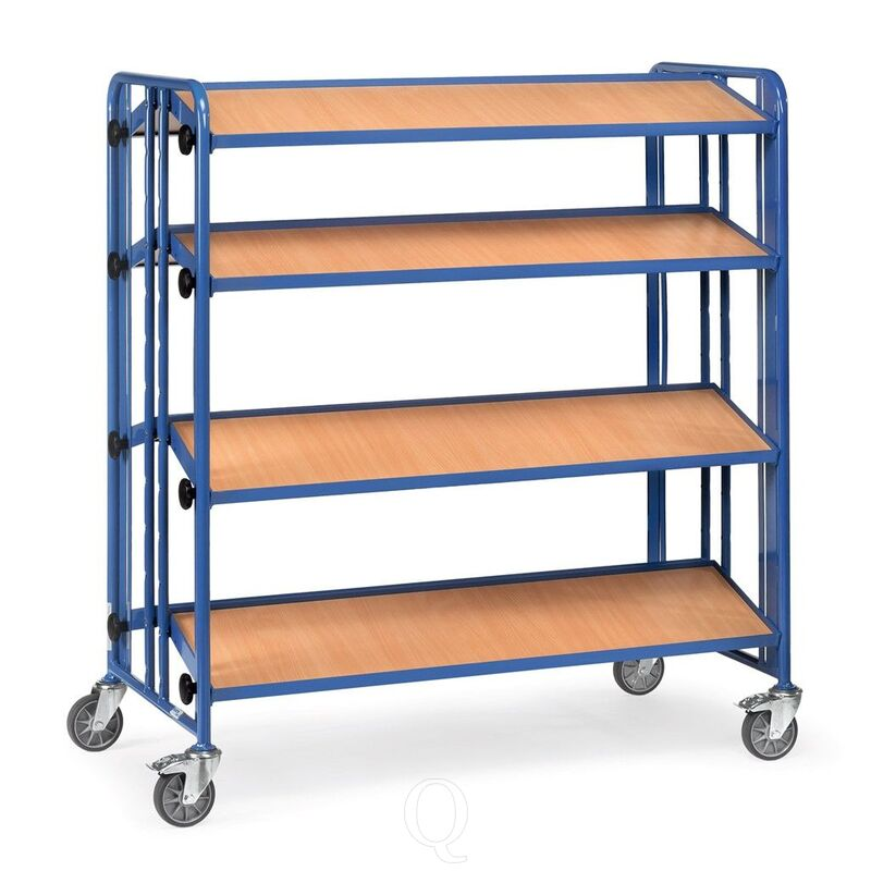 Bakkenwagen 300 kg met 4 houten etages 1280x315 kantelbaar dubbelzijdig