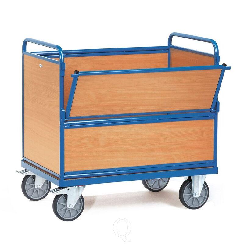 Bakwagen 600 kg 1000x700 met houten wanden