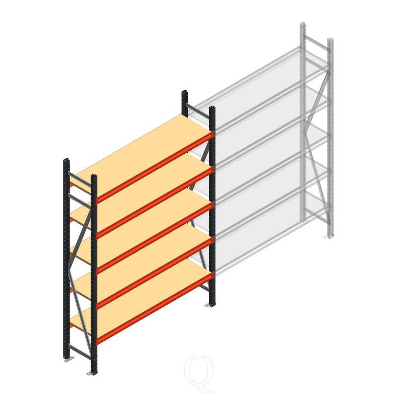 Beginsectie AR grootvakstelling 2000x1500x400 - 5 niveaus