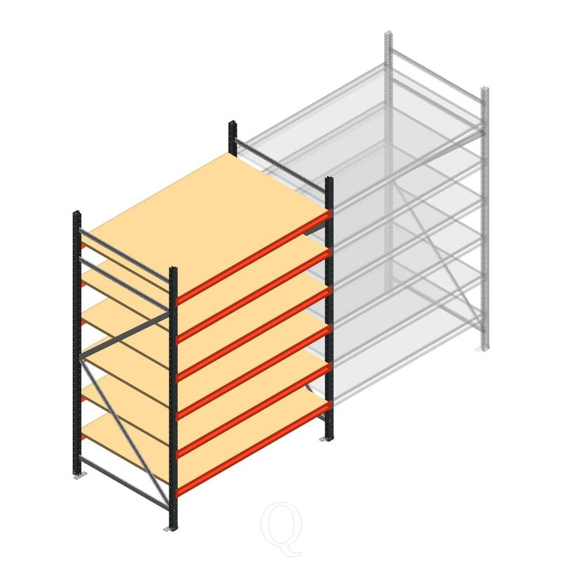 Beginsectie AR grootvakstelling 2000x1500x900 - 6 niveaus