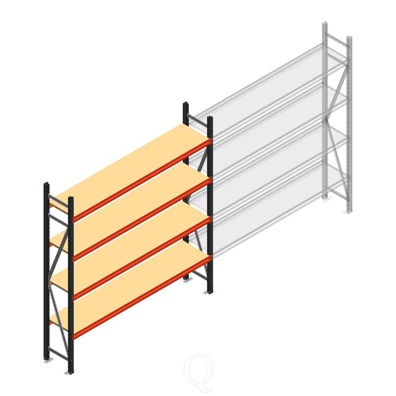 Beginsectie AR grootvakstelling 2000x1850x400 - 4 niveaus