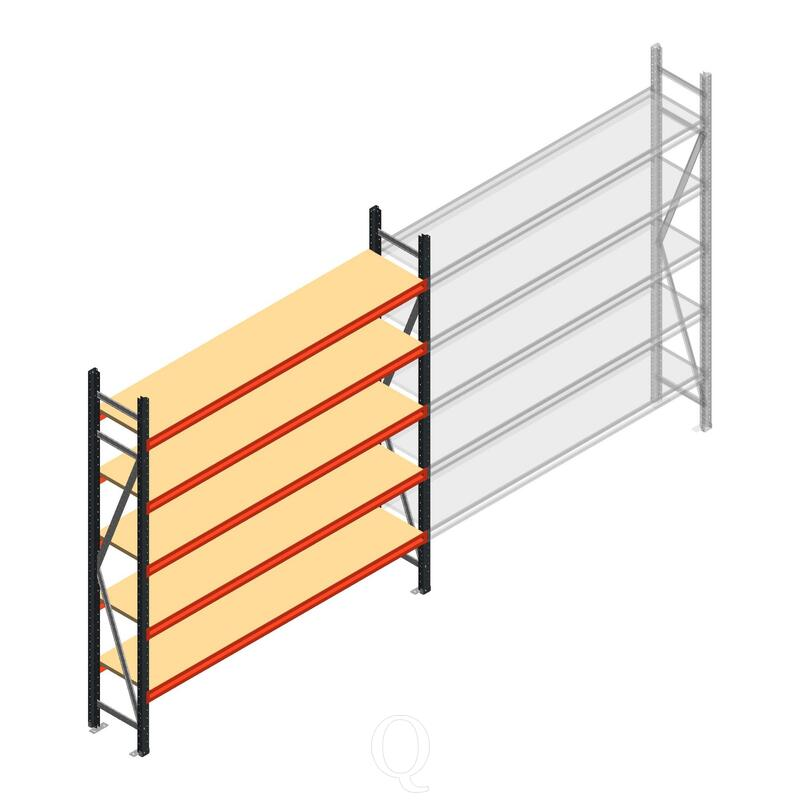 Beginsectie AR grootvakstelling 2000x1850x400 - 5 niveaus