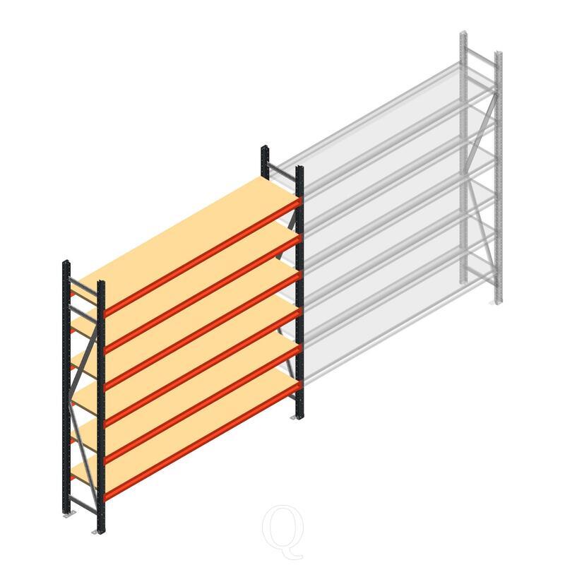 Beginsectie AR grootvakstelling 2000x1850x400 - 6 niveaus