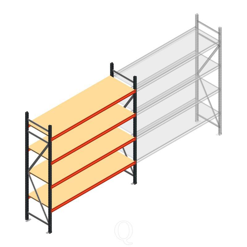 Beginsectie AR grootvakstelling 2000x1850x600 - 4 niveaus