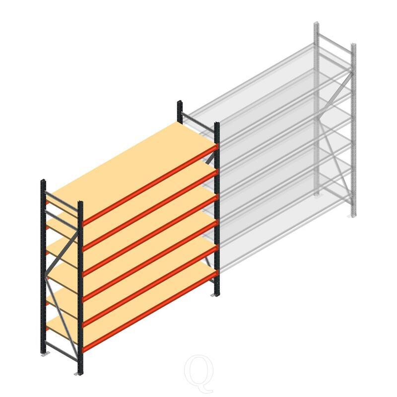 Beginsectie AR grootvakstelling 2000x1850x600 - 6 niveaus