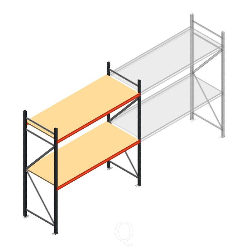 Beginsectie AR grootvakstelling 2000x1850x800 - 2 niveaus