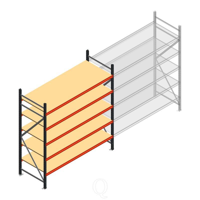 Beginsectie AR grootvakstelling 2000x1850x800 - 5 niveaus