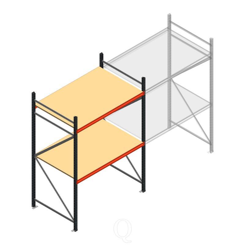 Beginsectie AR grootvakstelling 2250x1500x1000 - 2 niveaus