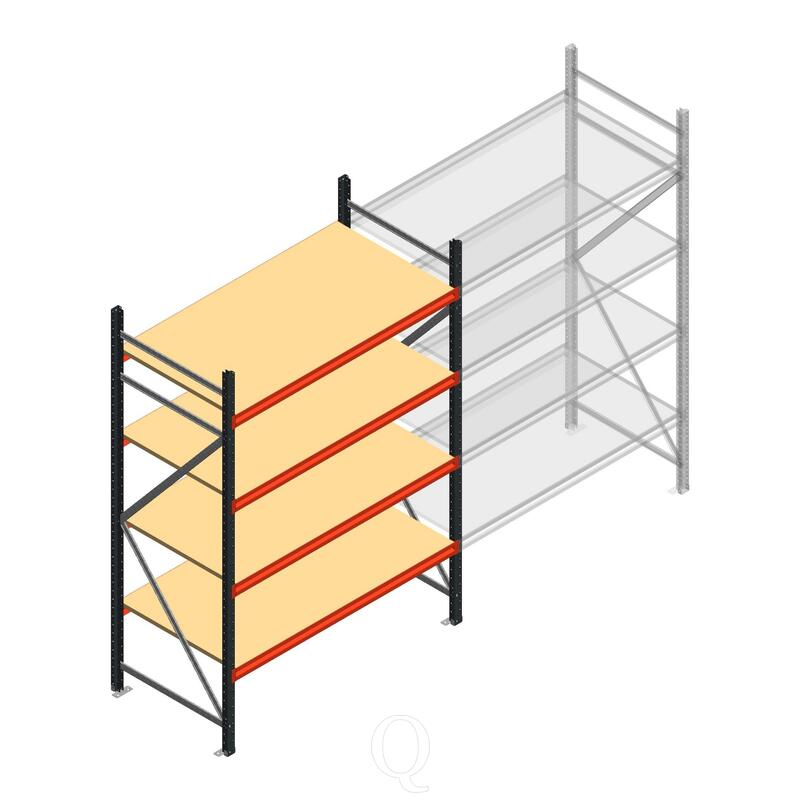 Beginsectie AR grootvakstelling 2250x1500x800 - 4 niveaus
