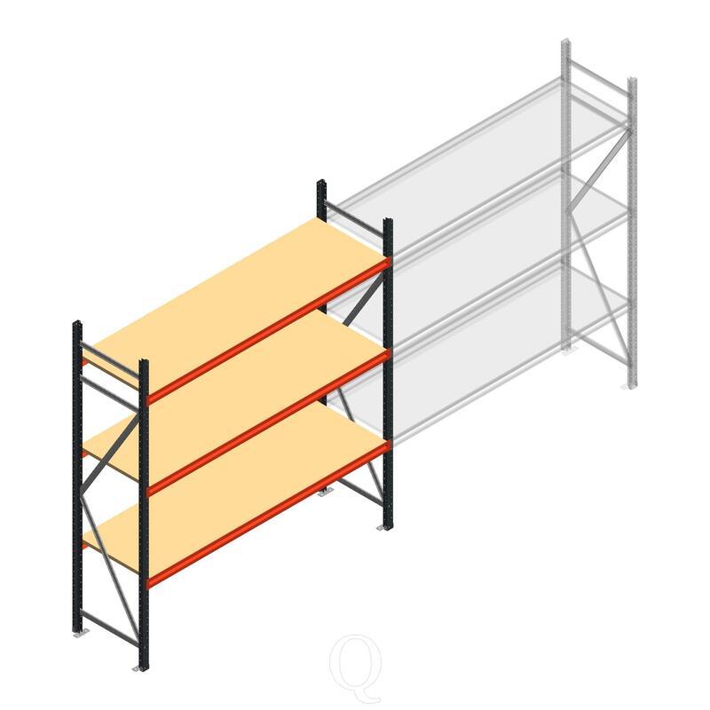 Beginsectie AR grootvakstelling 2250x1850x600 - 3 niveaus
