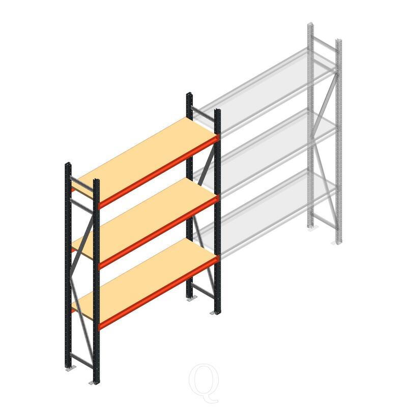 Beginsectie AR grootvakstelling 2500x1500x400 - 3 niveaus