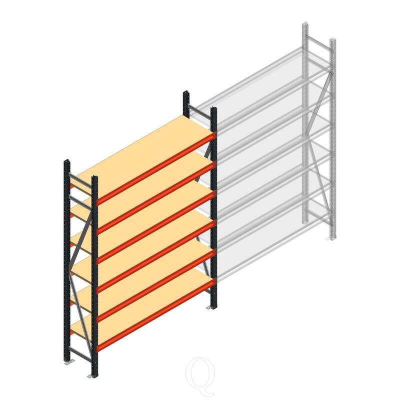 Beginsectie AR grootvakstelling 2500x1500x400 - 6 niveaus
