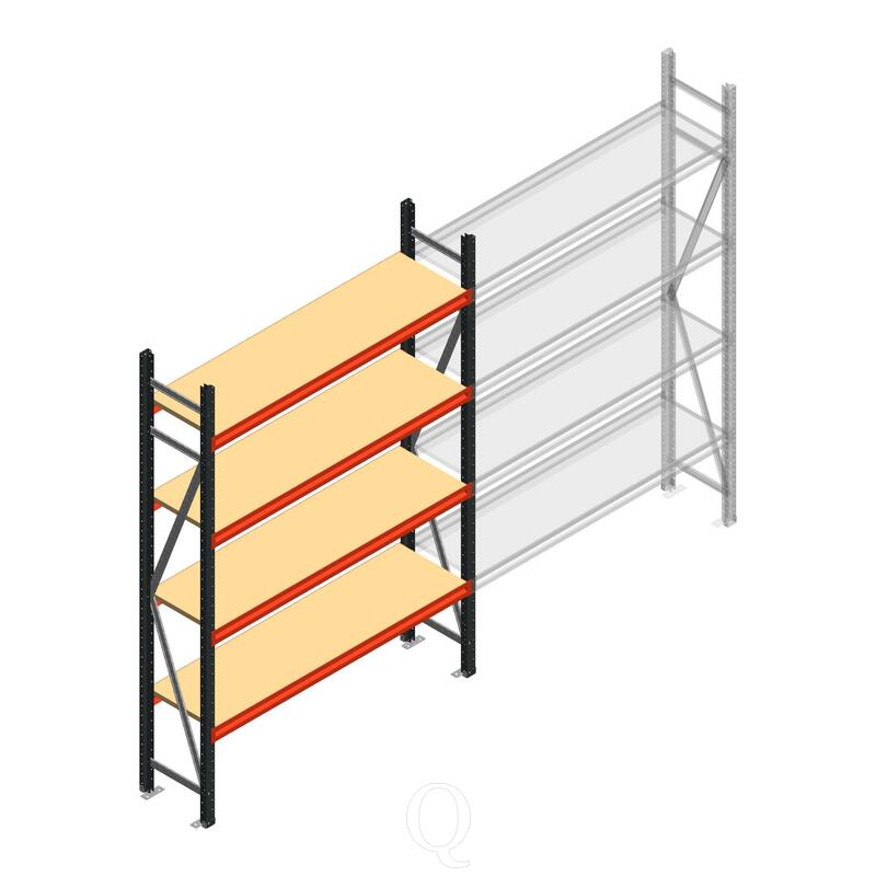Beginsectie AR grootvakstelling 2500x1500x500 - 4 niveaus
