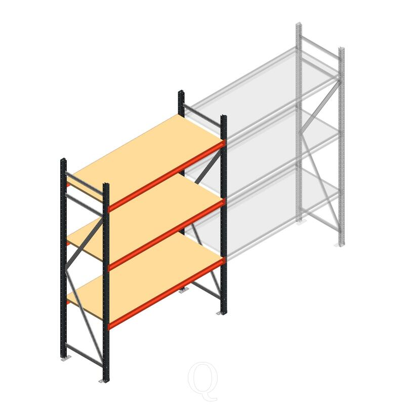 Beginsectie AR grootvakstelling 2500x1500x600 - 3 niveaus