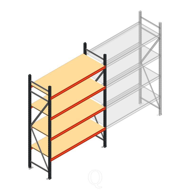 Beginsectie AR grootvakstelling 2500x1500x600 - 4 niveaus