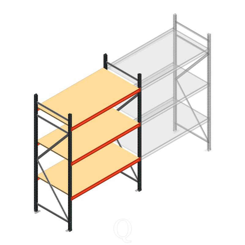 Beginsectie AR grootvakstelling 2500x1500x800 - 3 niveaus