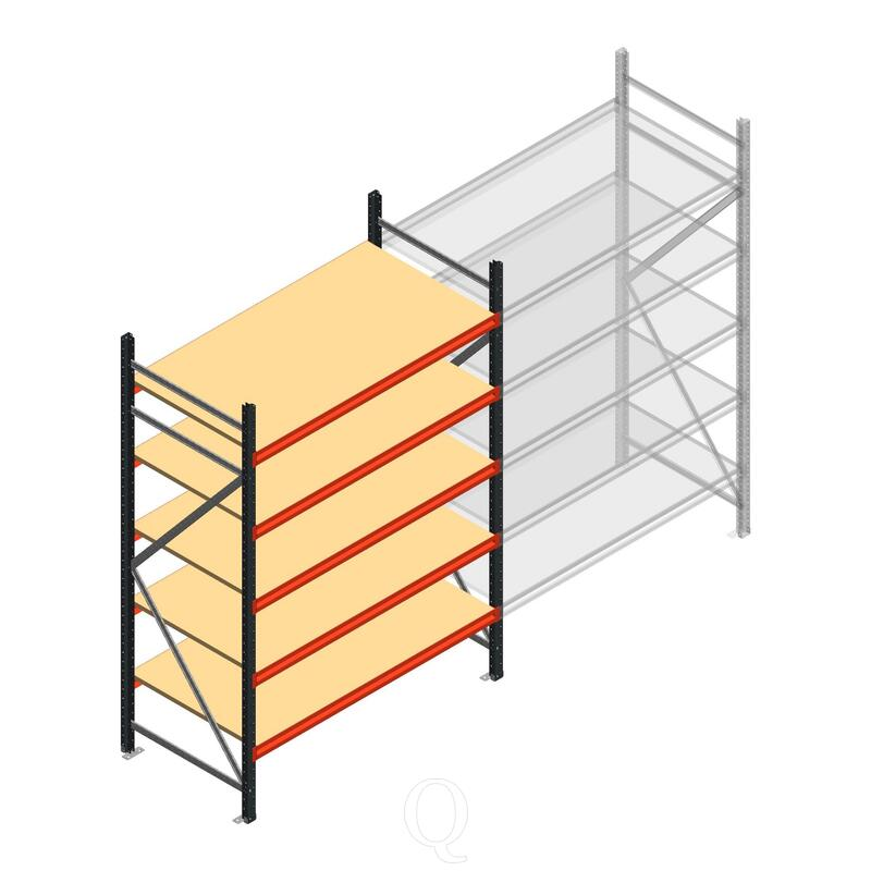 Beginsectie AR grootvakstelling 2500x1500x800 - 5 niveaus