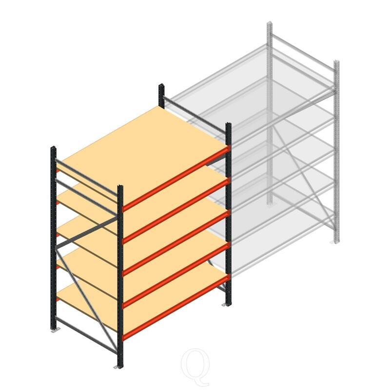 Beginsectie AR grootvakstelling 2500x1500x900 - 5 niveaus