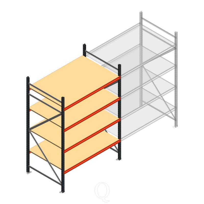 Beginsectie AR grootvakstelling 2500x1610x1000 - 4 niveaus