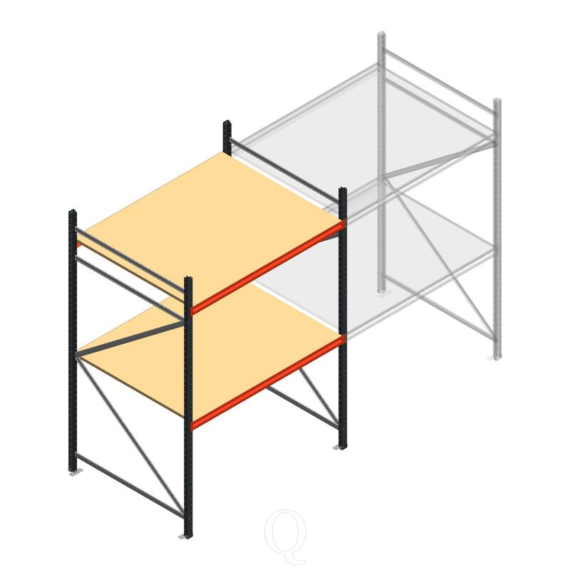 Beginsectie AR grootvakstelling 2500x1610x1200 - 2 niveaus