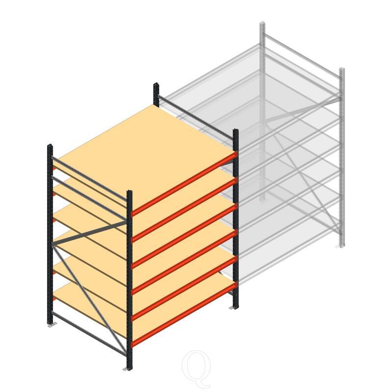 Beginsectie AR grootvakstelling 2500x1610x1200 - 6 niveaus