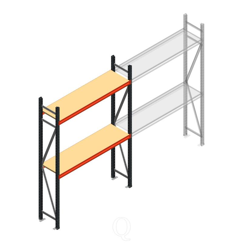 Beginsectie AR grootvakstelling 2500x1610x400 - 2 niveaus