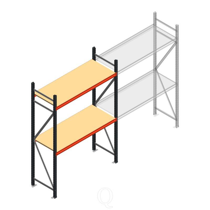Beginsectie AR grootvakstelling 2500x1610x600 - 2 niveaus