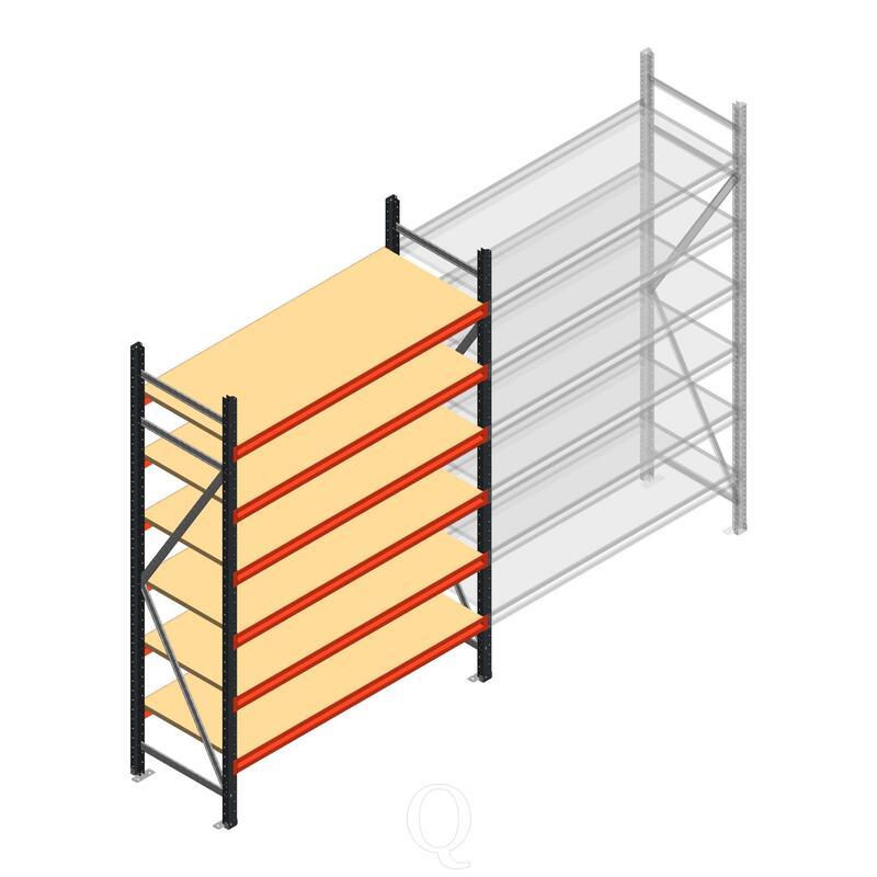 Beginsectie AR grootvakstelling 2500x1610x600 - 6 niveaus