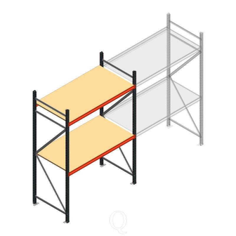 Beginsectie AR grootvakstelling 2500x1610x800 - 2 niveaus