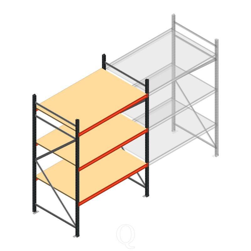 Beginsectie AR grootvakstelling 2500x1610x900 - 3 niveaus
