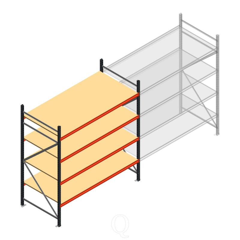 Beginsectie AR grootvakstelling 2500x1850x1000 - 4 niveaus