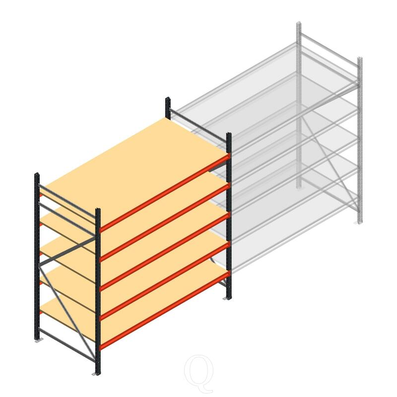 Beginsectie AR grootvakstelling 2500x1850x1000 - 5 niveaus