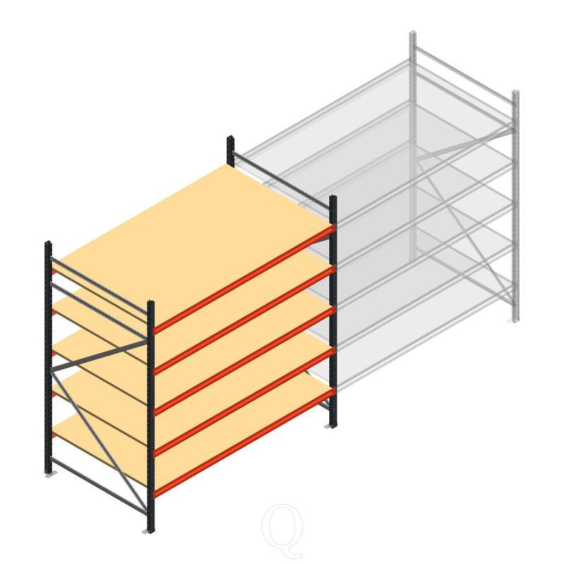 Beginsectie AR grootvakstelling 2500x1850x1200 - 5 niveaus