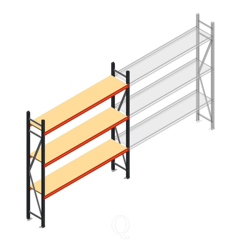 Beginsectie AR grootvakstelling 2500x1850x400 - 3 niveaus