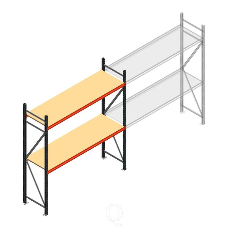 Beginsectie AR grootvakstelling 2500x1850x600 - 2 niveaus