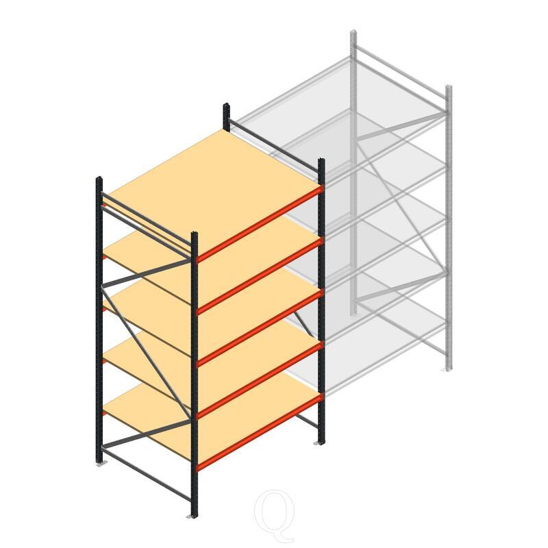 Beginsectie AR grootvakstelling 3000x1500x1200 - 5 niveaus