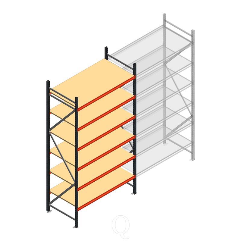 Beginsectie AR grootvakstelling 3000x1500x800 - 6 niveaus