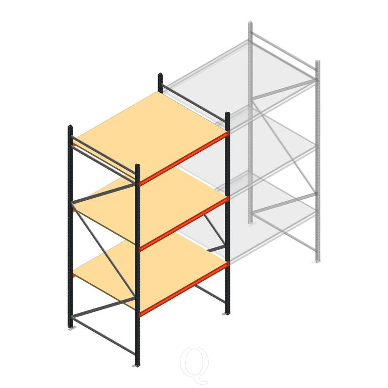 Beginsectie AR grootvakstelling 3000x1610x1200 - 3 niveaus