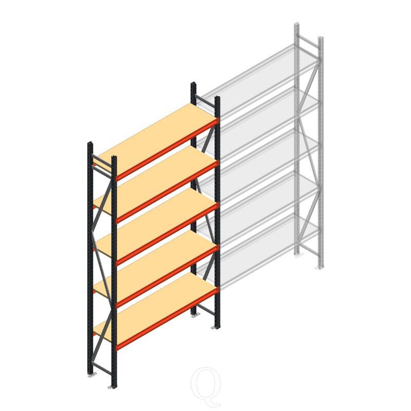 Beginsectie AR grootvakstelling 3000x1610x400 - 5 niveaus