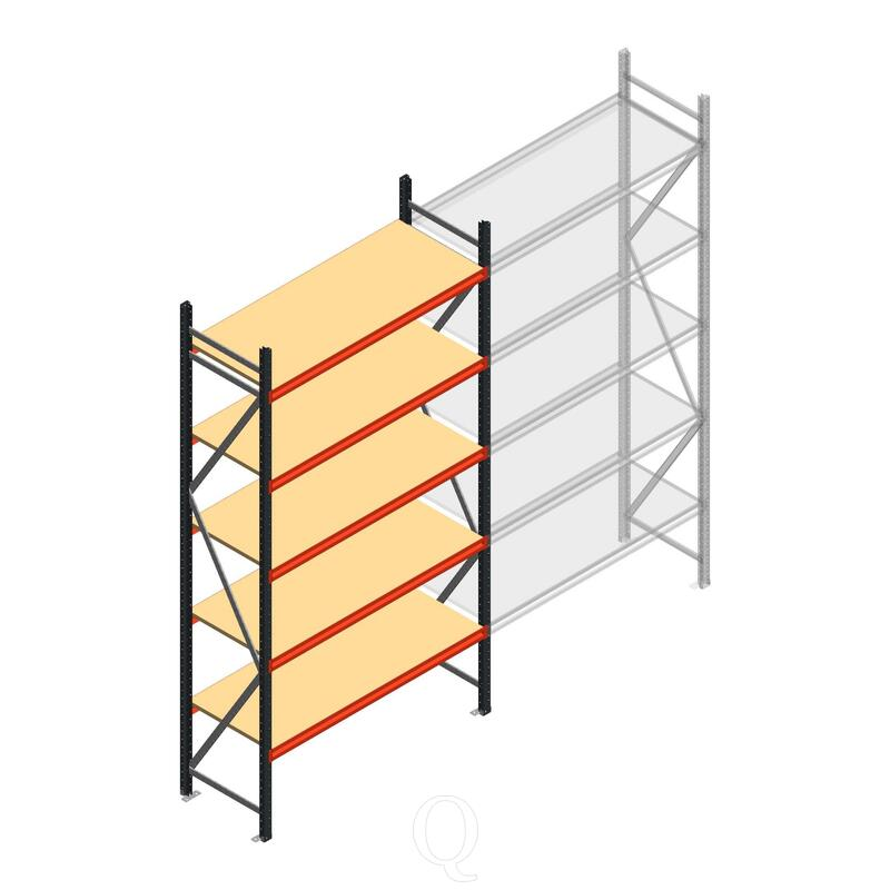 Beginsectie AR grootvakstelling 3000x1610x600 - 5 niveaus