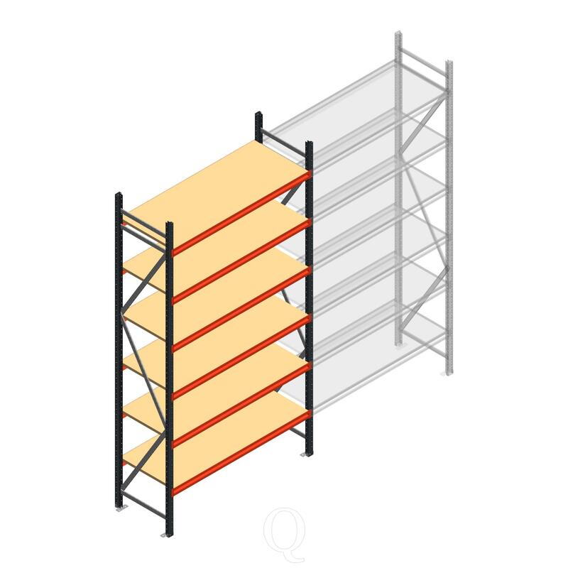Beginsectie AR grootvakstelling 3000x1610x600 - 6 niveaus