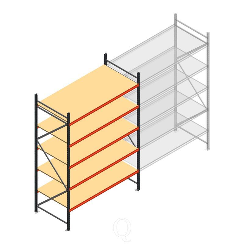 Beginsectie AR grootvakstelling 3000x1850x1000 - 5 niveaus