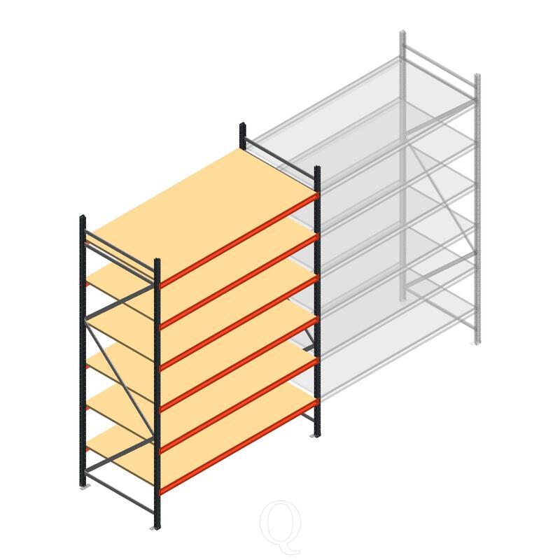 Beginsectie AR grootvakstelling 3000x1850x1000 - 6 niveaus