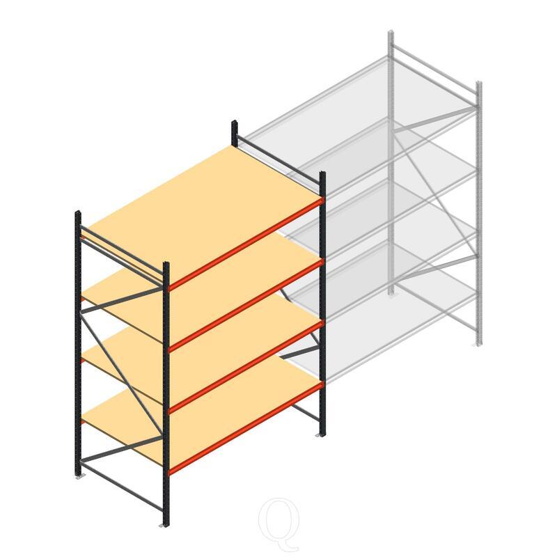 Beginsectie AR grootvakstelling 3000x1850x1200 - 4 niveaus