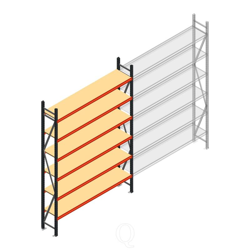 Beginsectie AR grootvakstelling 3000x1850x400 - 6 niveaus