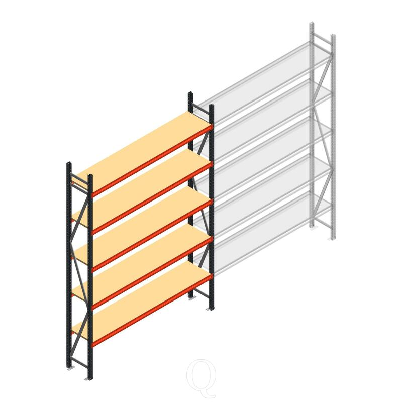Beginsectie AR grootvakstelling 3000x1850x500 - 5 niveaus