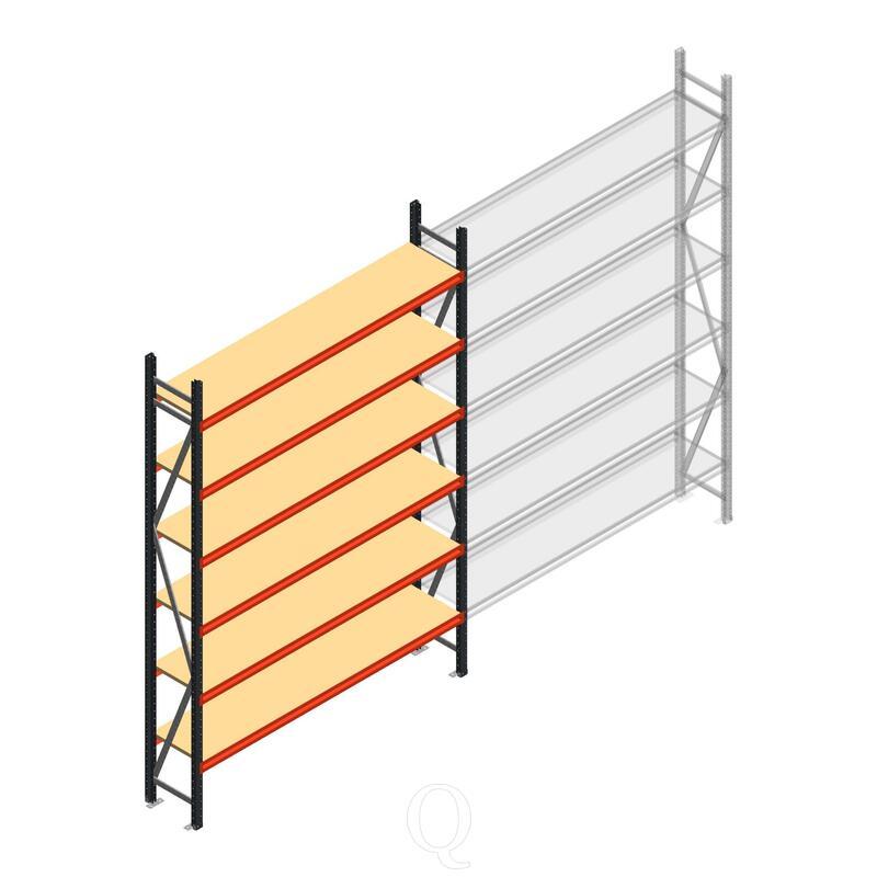 Beginsectie AR grootvakstelling 3000x1850x500 - 6 niveaus